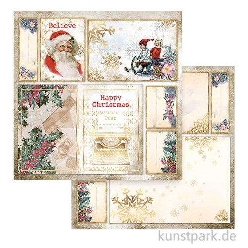 Stamperia Scrappapier - Romantic Christmas Santa Claus, 30,5x30,5 cm
