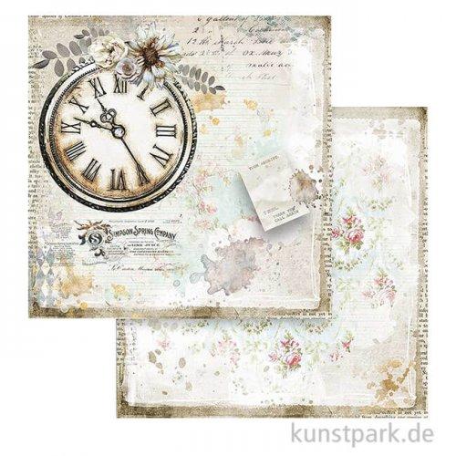 Stamperia Scrappapier - Romantic Journal Clock, 30,5x30,5 cm