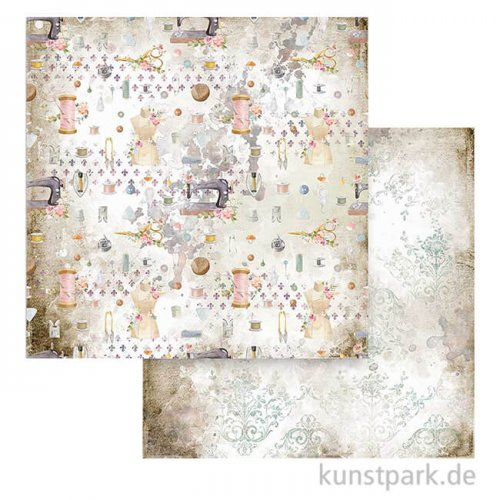 Stamperia Scrappapier - Romantic Threads Texture, 30,5x30,5 cm