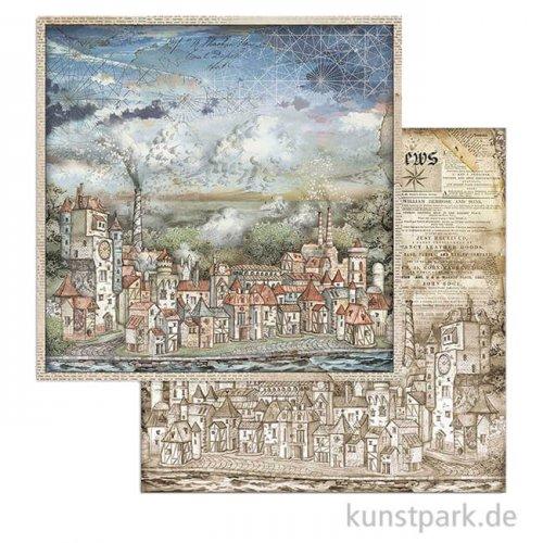 Stamperia Scrappapier - Sir Vagabond Cityscapes, 30,5 x 30,5 cm