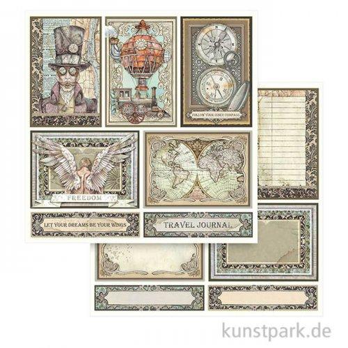 Stamperia Scrappapier - Sir Vagabond Cards, 30,5 x 30,5 cm