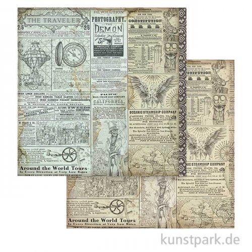 Stamperia Scrappapier - Sir Vagabond The Traveler, 30,5 x 30,5 cm