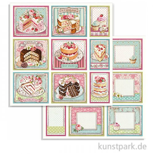 Stamperia Scrappapier - Sweety Cakes, 30,5 x 30,5 cm