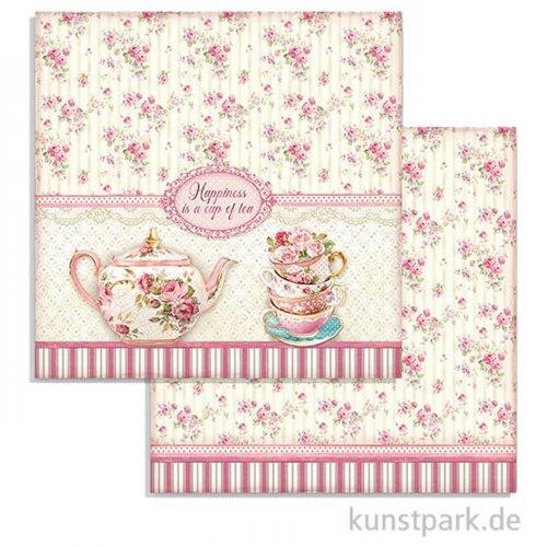 Stamperia Scrappapier - Sweety Cup of Tea, 30,5 x 30,5 cm