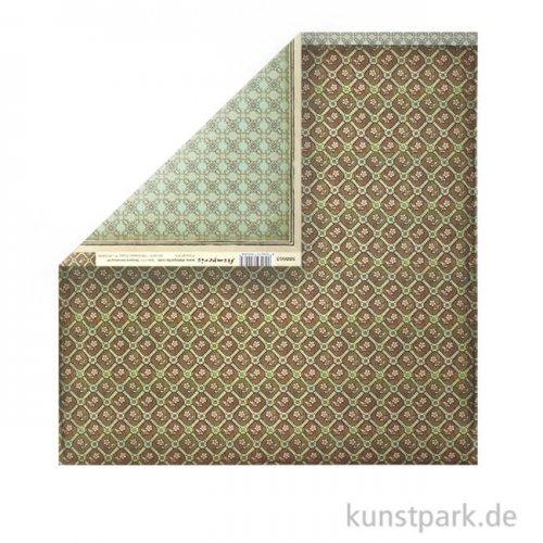 Stamperia Scrappapier - Voyages Fantastiques Wallpaper, 30,5 x 30,5 cm, 190g
