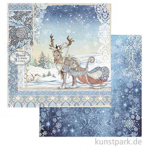 Stamperia Scrappapier - Winter Tales Deer, 30,5x30,5 cm