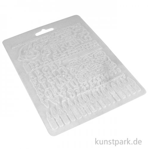 Stamperia Soft Mould (Gießform) - Calligraphy Art, Ink and Memories, DIN A5