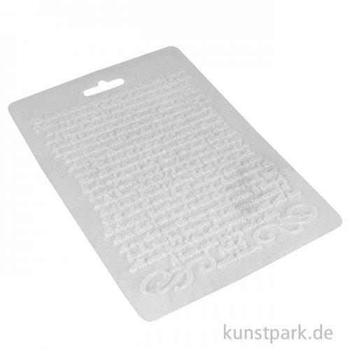 Stamperia weiche Giessform - Calligraphy Manuscript, DIN A5