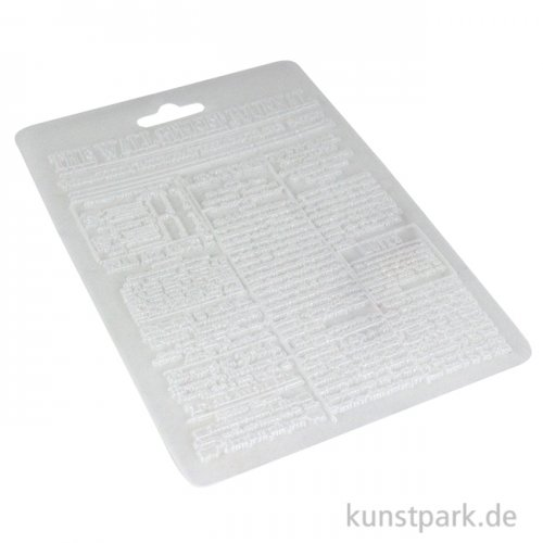 Stamperia Soft Mould (Gießform) - Calligraphy Wall Street Journal, DIN A5