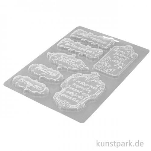 Stamperia Soft Mould (Gießform) - Alice in Wonderland Plates, DIN A5