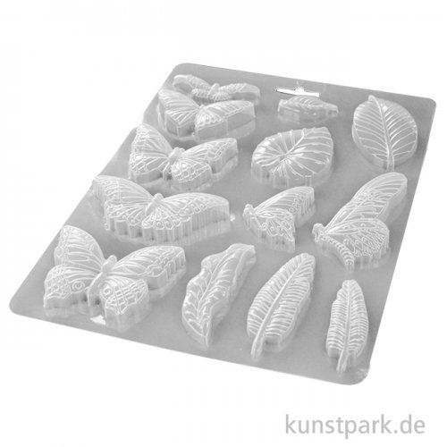 Stamperia Soft Mould (Gießform) - Amazonia Leaves and Butterflies, DIN A5