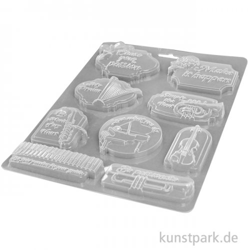 Stamperia Soft Mould (Gießform) - Passion Music and Tag, DIN A4