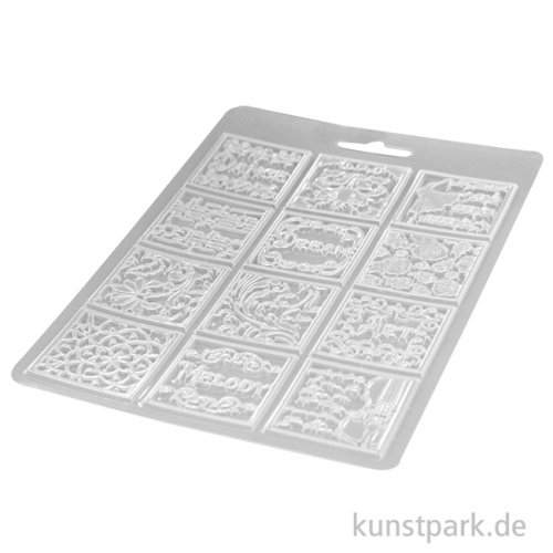 Stamperia Soft Mould (Gießform) - Passion Patchwork Music, DIN A5