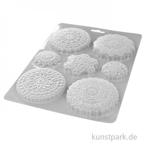 Stamperia Soft Mould (Gießform) - Passion Round Lace, DIN A4