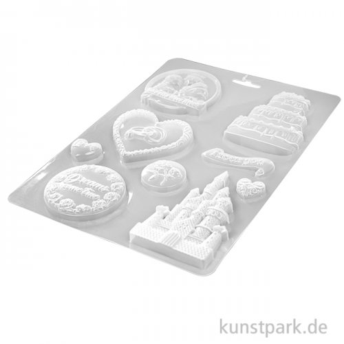 Stamperia Soft Mould (Gießform) - Sleeping Beauty Castle and Cake
