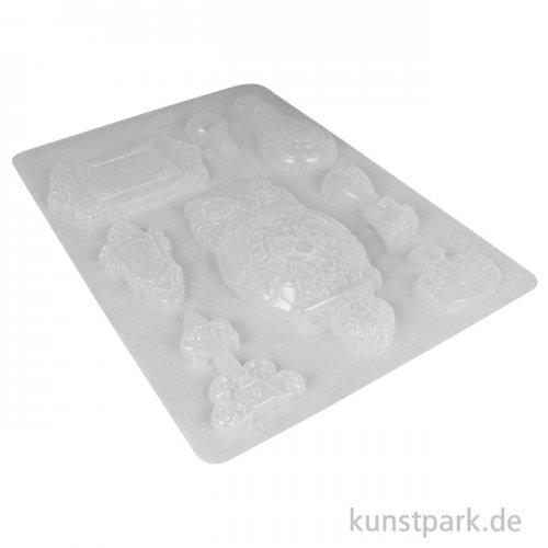Stamperia Soft Mould (Gießform) - Sir Vagabond Owl and Memories, DIN A4