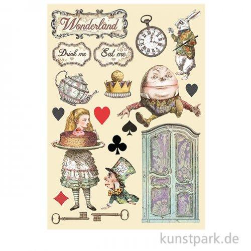 Stamperia Wooden Shapes - Alice Cake, DIN A5