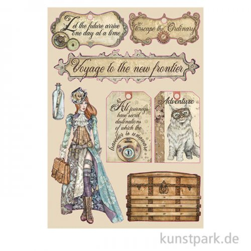 Stamperia Wooden Shapes - Lady Vagabond Labels, DIN A5