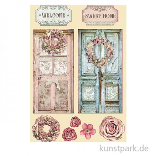 Stamperia Wooden Shapes - Passion Home, DIN A5