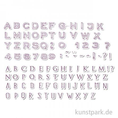 STAMPO Scrap Stempel & Farbe, 104er Set - Alphabet 2