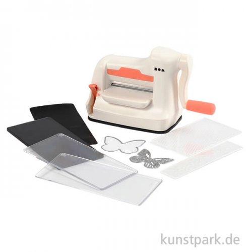 Stanz- & Prägemaschine - Starterset mit Zubehör, für Folien bis 7,5 cm