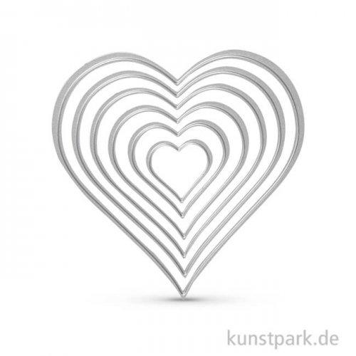 Stanzform - Herzen, Größe 3-11,5 cm