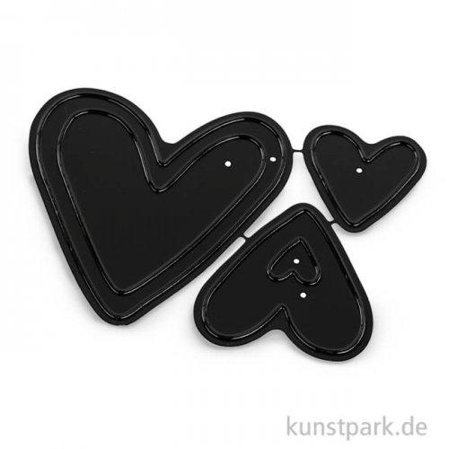 Stanzschablonen Set - Hearts, 3 Stück