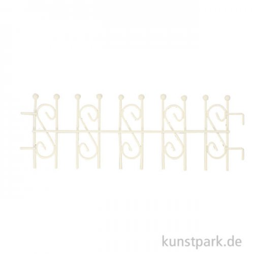 Mini Steckzaun - Weiß, 6,5 cm
