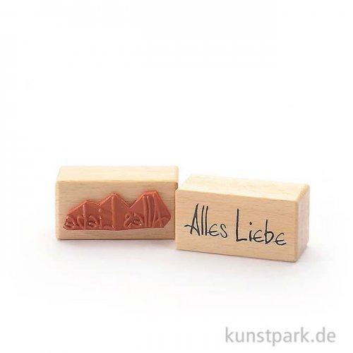 Stempel - Alles Liebe - 3x6 cm
