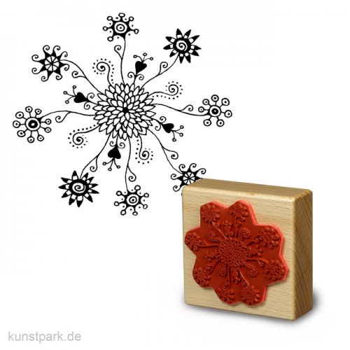 Stempel - Blütenzauber - 7x7 cm