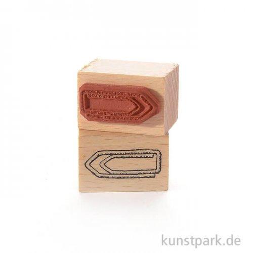 Stempel - Büroklammer, 2 x 3 cm