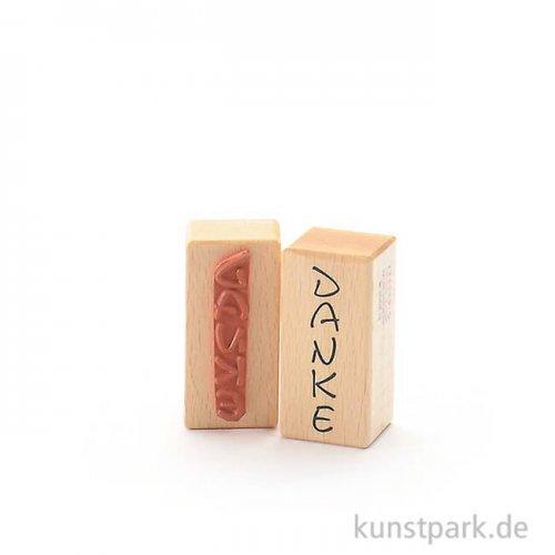 Stempel - Danke - 3x6 cm, hochkant