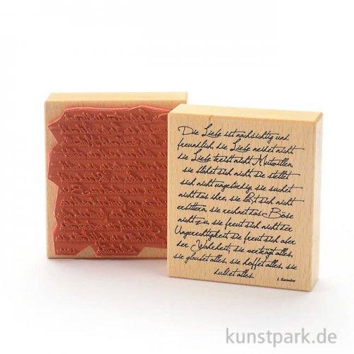 Stempel - Die Liebe ist nachsichtig ... - 9x10 cm