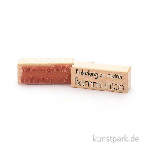 Stempel - Einladung zu meiner Kommunion II - 3x8 cm