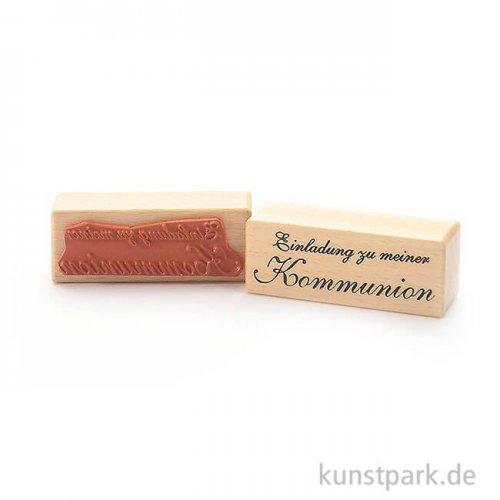 Stempel - Einladung zu meiner Kommunion - 3x8 cm