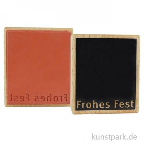 Stempel - Frohes Fest mit Fläche - 7x8 cm