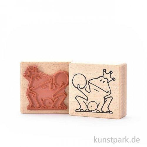 Stempel - Froschkönig, 6x6 cm