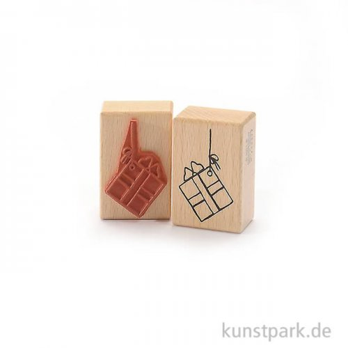 Stempel - Geschenk am Band - 4x6 cm