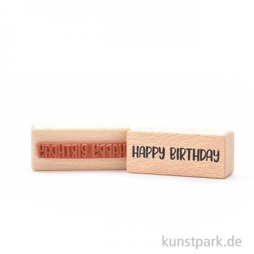 Stempel - Happy Birthday, 3x7 cm