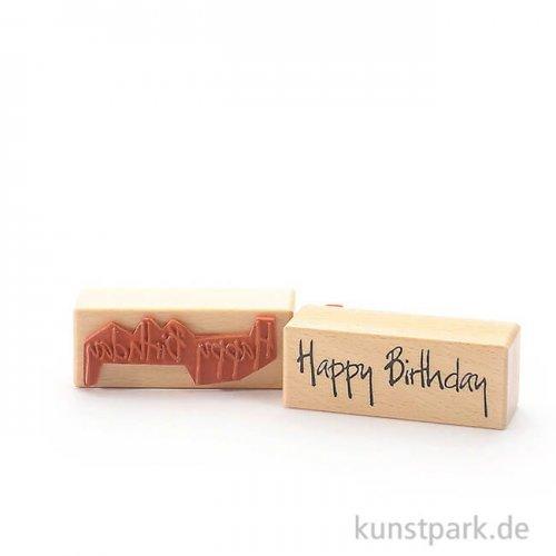 Stempel - Happy Birthday - 3x8 cm