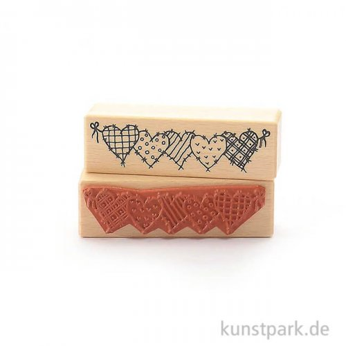 Stempel - Herzenreihe - 3x10 cm