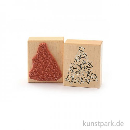 Stempel - Herzlicher Weihnachtsbaum - 6x7 cm