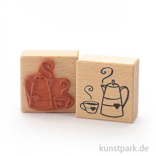 Stempel - Kaffeeklatsch Kanne - 6x6 cm