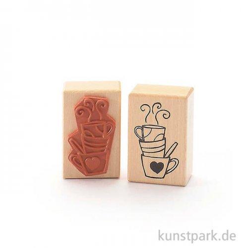 Stempel - Kaffeeklatsch Tassen - 4x6 cm