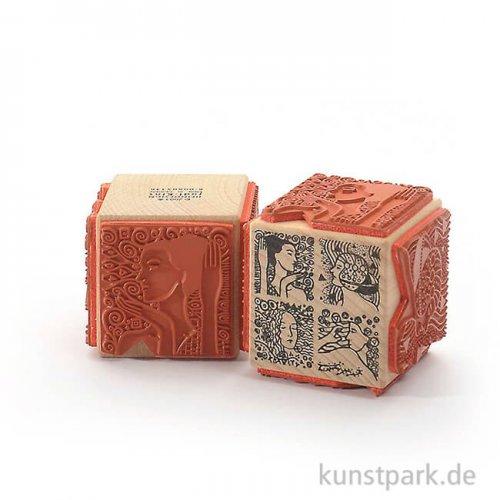 Stempel - Klimt's Mädchen - Würfel