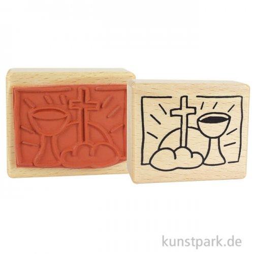 Stempel - Kommunion/Konfirmation Brot und Kelch - 5x6 cm
