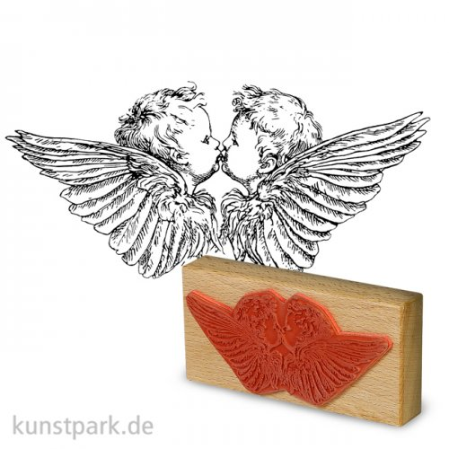 Stempel - Küssende Engel - 7x14 cm