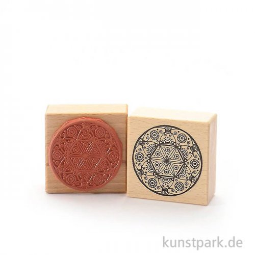 Stempel - Mandala - Sechserblüte - 6x6 cm