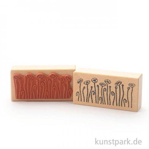 Stempel - Mohnblumen - 5x10 cm