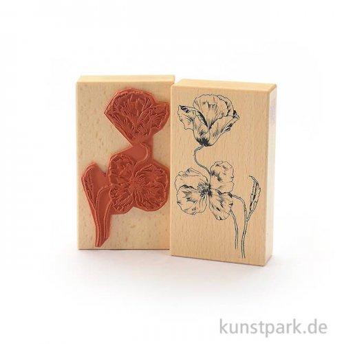Stempel - Mohnblumen - 7x12 cm